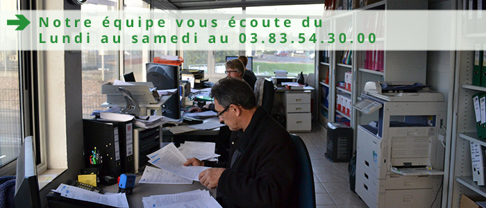Marjorie, Nathalie et Patricia vous écoute du lundi au samedi au 03.83.54.30.00 - standard téléphonique