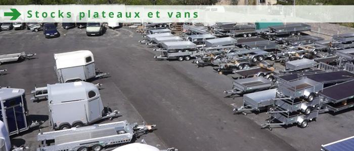 Stock plateaux et vans