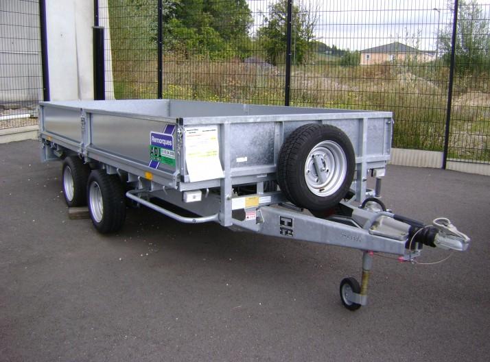 Remorques roues dessous 2 essieux modèle LM 187 ifor williams