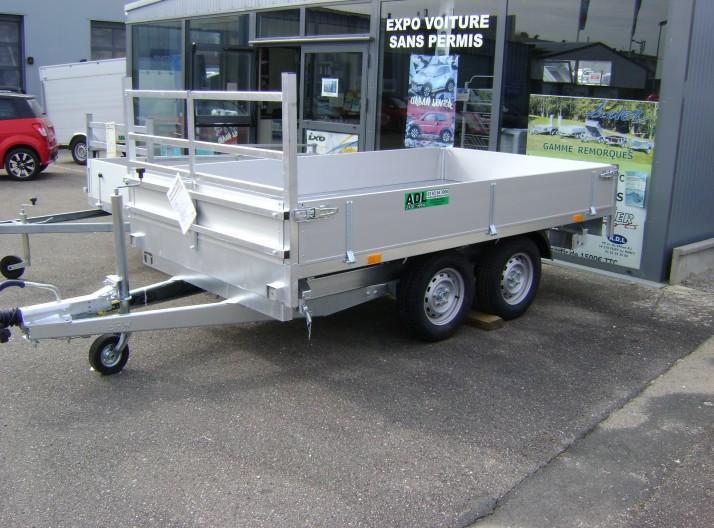 Bennes Tribennes Debon  2 essieux pompe éléctrique