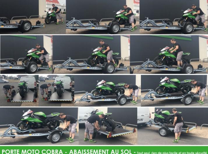 charger moto sur remorque